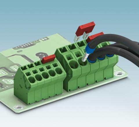 Vinklad kretskortsplint för kraftelektronik