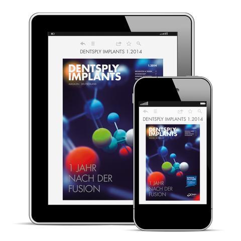 App zum DENTSPLY Implants Magazin Deutschland