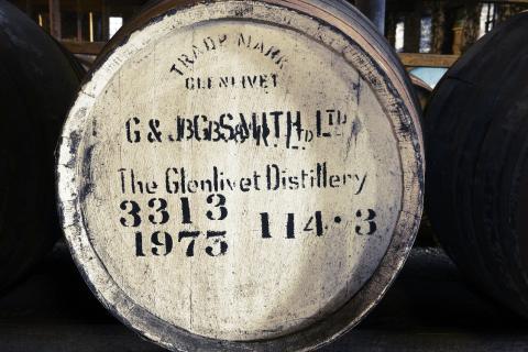 The Glenlivet Distillery barrel