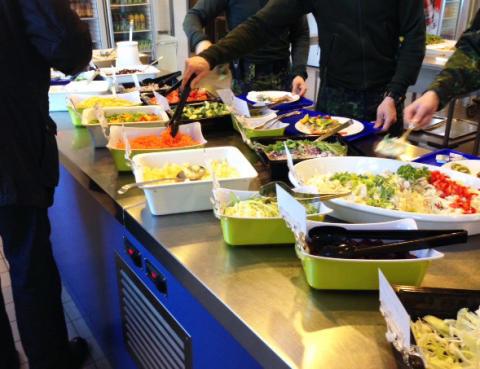 Soldaterne på alle kaserner i Østdanmark har nu mulighed for at vælge nøglehulsmærket mad