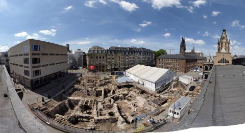 Under Kölns rådhusplads ligger et romersk palads - det bliver snart dækket af et nyt museum