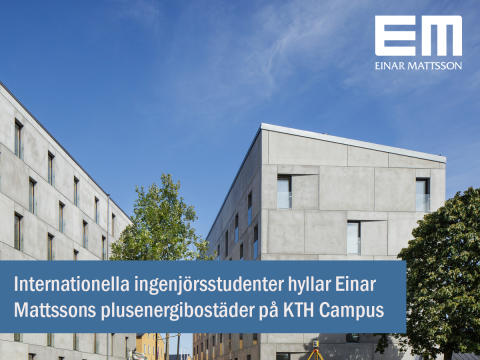 Internationella studenter hyllar plusenergibostäderna på KTH Campus