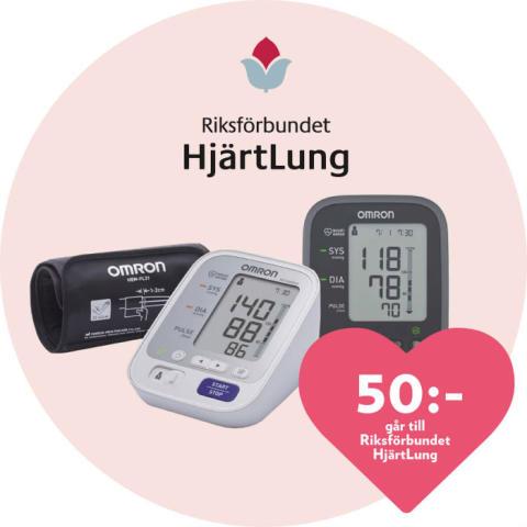 Kronans Apotek stödjer Hjärtemånaden och hjälper dig ha koll på blodtrycket