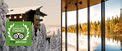 Copperhill Mountain Lodge vinner Tripadvisors Travellers' Choice