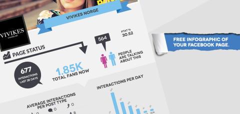 Lager infographics av alle Facebook sider på sekunder