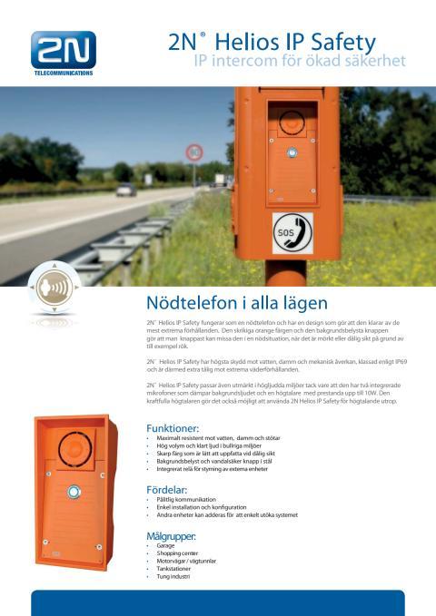 Porttelefoner från Gate Security - 2N Helios IP Safety