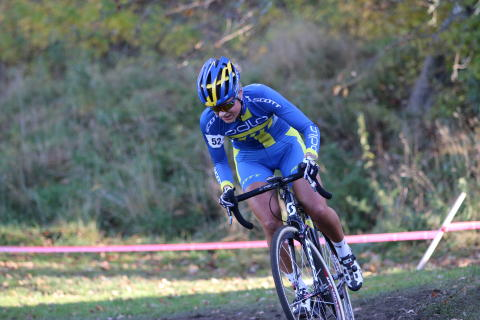 Jenny Rissveds, segrare på Int. Stockholm Cyclocross