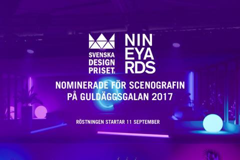 Nine Yards scenografi för Guldägget nominerat i Svenska Designpriset