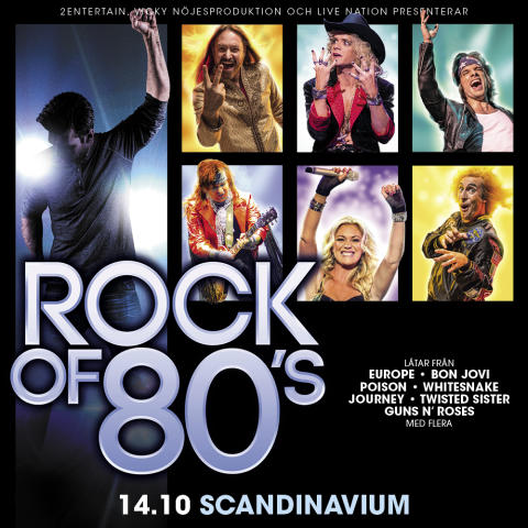 Arenaturnén Rock of 80's intar Scandinavium