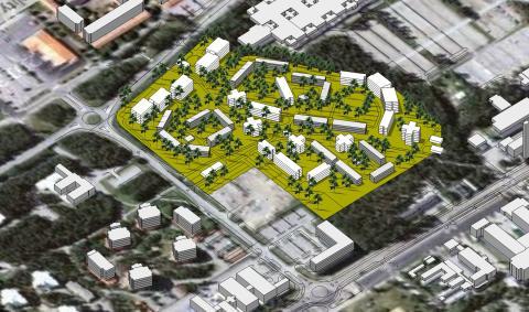 Godkänd detaljplan för 800–1000 nya lägenheter i närheten av Umeå universitet