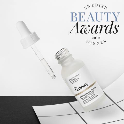 Vinnare i Swedish Beauty Awards - The Ordinary  NIACINAMIDE 10% +ZINC 1%