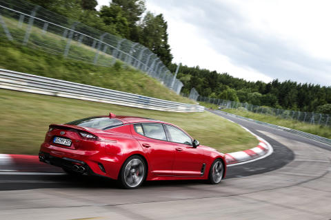 KIA Stinger testing at Nurburgring