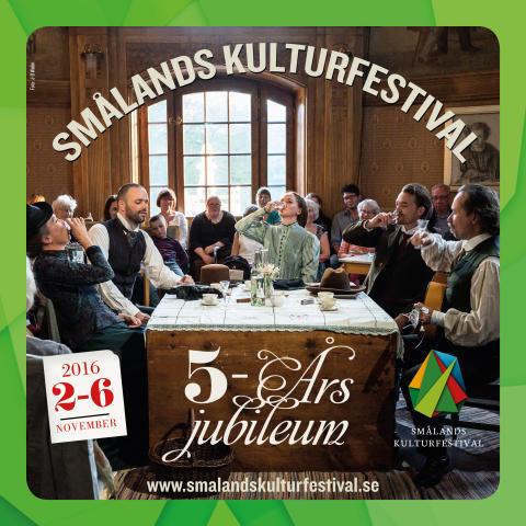 Smålands Kulturfestival firar 5-årsjubileum - Biljettsläpp 1 september.