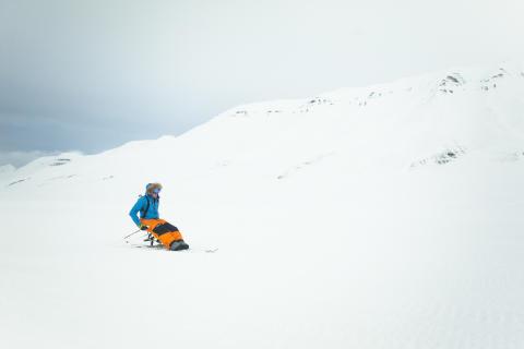 Aron Anderson först mot Sydpolen i rullstol