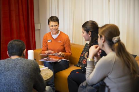 """""""Bo i Västerås"""", en bo-skola för nya Västeråsare som läser SFI."""