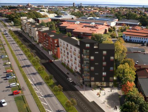 Första spadtagen för Riksbyggens Brf Norrgård i Kalmar