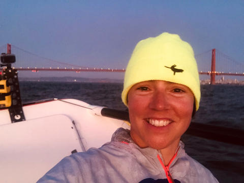 Hi-res image - Ocean Signal - Lia Ditton approaches San Francisco on a recent training row
