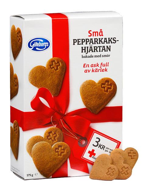 Små pepparkakshjärtan - En ask full av kärlek