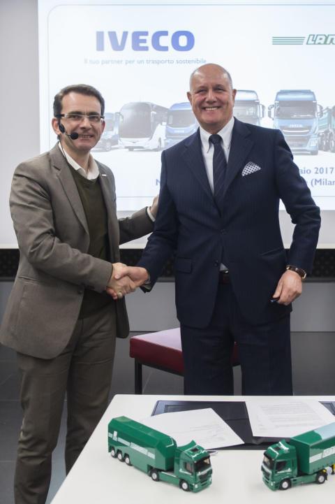 IVECO ja Lannutti Group solmivat sopimuksen 610 uuden Stralis XP ja NP -kuorma-auton toimituksesta