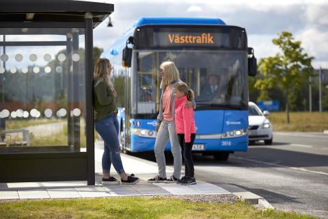Hållplatsbild Nobinas Västtrafiksbuss