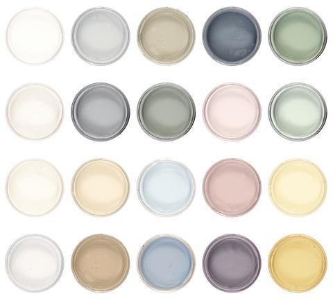 Byggfabrikens färgskala för Auro Fäggfärg