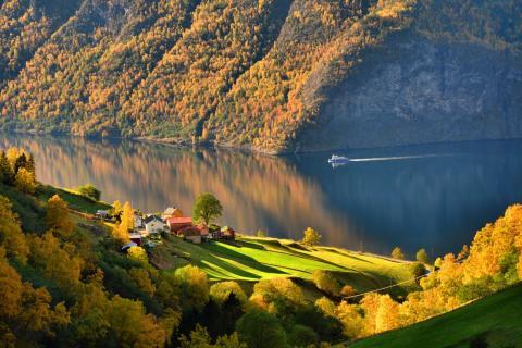 Осень на Аурландсфьорде