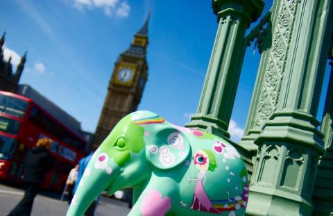 Elephant Parade in London, 2010