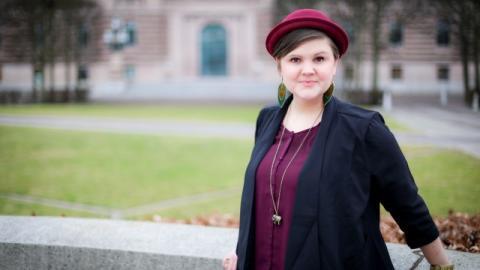 Emma Hult på nytt besök hos Passivhuscentrum