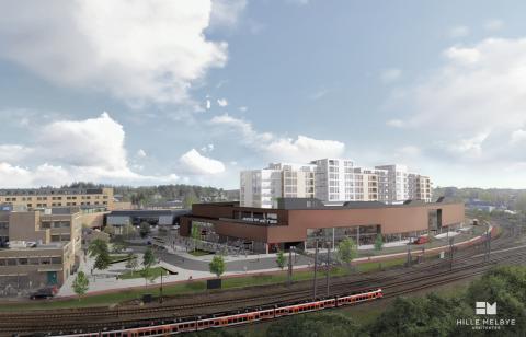 Ønsker at det etableres et nytt jernbanetorg i Ski sentrum