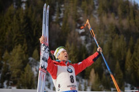 Ole Einar etter jaktstart sprint VM Hochfilzen