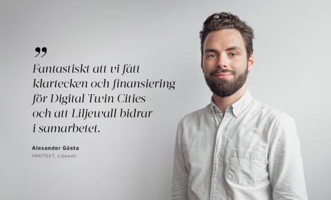"Liljewall medverkar i forskningssamarbetet ""Digital Twin Cities"""