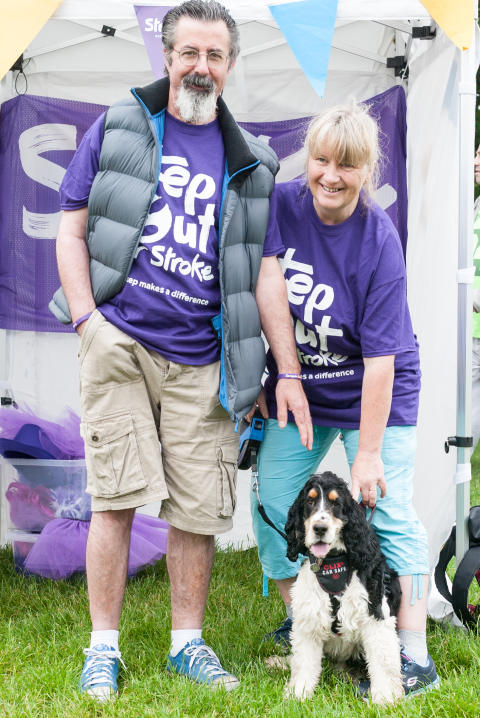 Stilton stroke survivor takes a Step Out for Stroke in Ferry Meadows