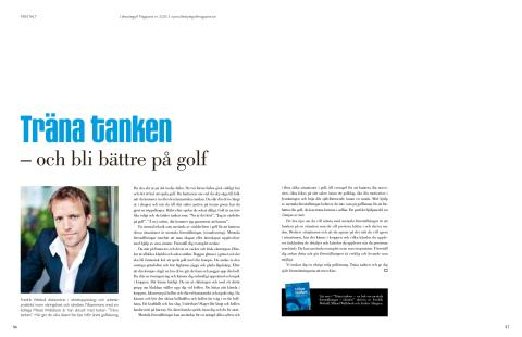 Träna tanken och bli bättre på golf