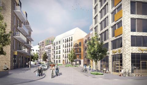 Einar Mattsson utvecklar 90 bostadsrätter i Sköndal och 200 hyresrätter i Kvarnbacken