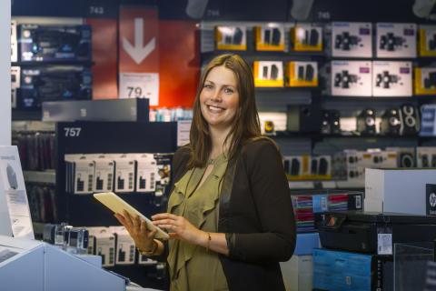 Kommunikasjons- og Markedssjef Ina Kristin Haugen har god grunn til å smile i dag.