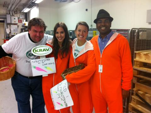 Hundratals visade sitt stöd för KRAV-märkt mat