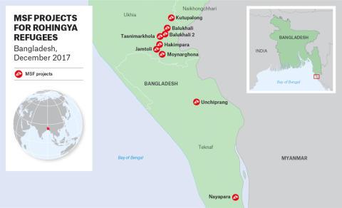 Läkare Utan Gränsers insatser i Bangladesh.