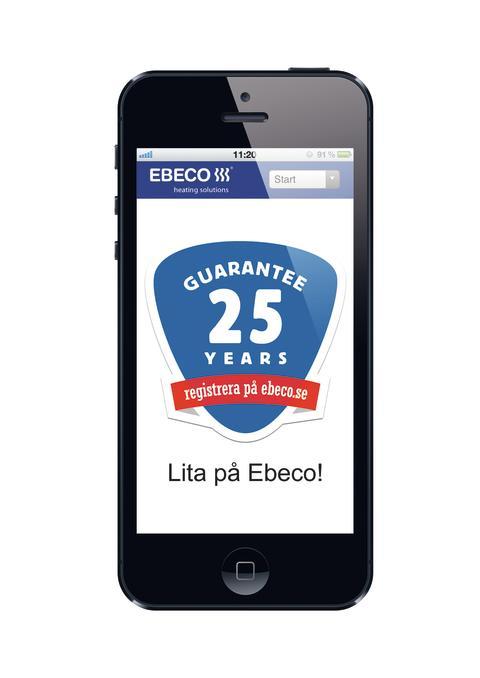 Ebecos responsiva webbplats i mobilen