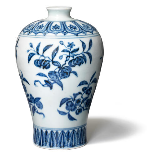 A rare fruit meiping Ming porcelain vase