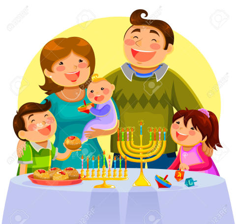 23269864-happy-family-celebrating-Hanukah-Stock-Vector-jewish-family-hanukkah
