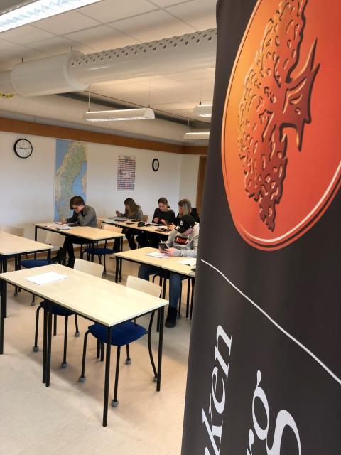 Gymnasielever löser matteproblem från arbetslivet