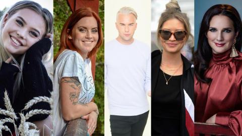 Fem kändisar laddar för hästhoppning i Friends Arena