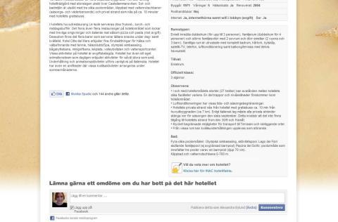 Solresor blir transparenta med hjälp av Facebook Comments