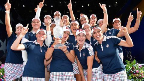 Scotland celebrates Solheim Cup handover