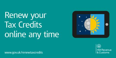 Hmrc urges everyone to renew their tax credits early and - Hm revenue and customs office address ...