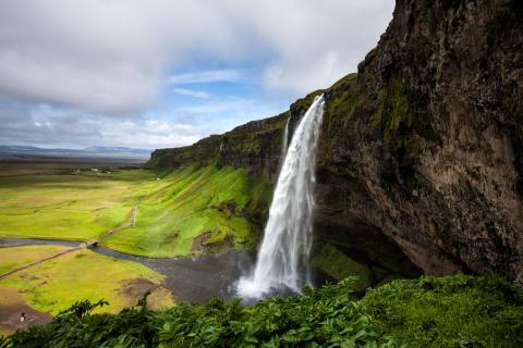 Seljalandsfoss vattenfall - Island