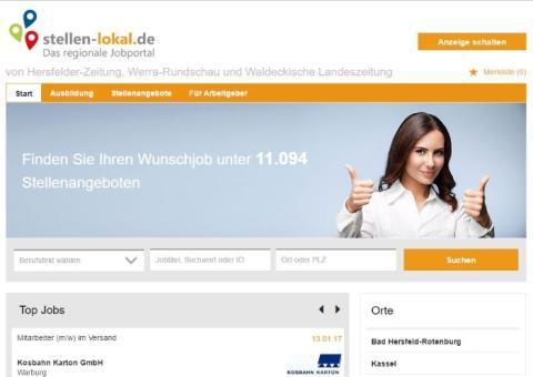 Die neue regionale Jobbörse stellen-lokal.de ist online