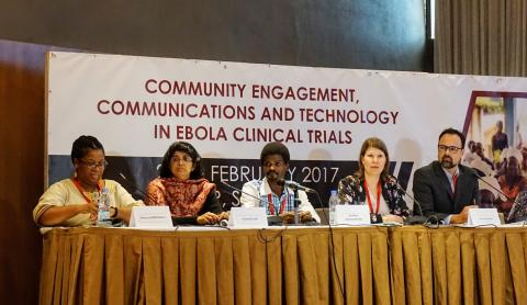 "MyChild System demo at Ebola symposium in Senegal: ""simplicity key for improving vaccine delivery"""