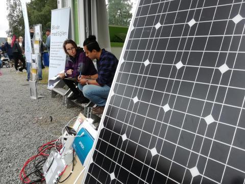 Stort intresse för solel i Umeå