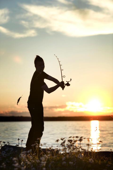 Evening fishing, Jämtland Härjedalen